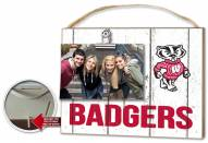 Wisconsin Badgers Weathered Logo Photo Frame