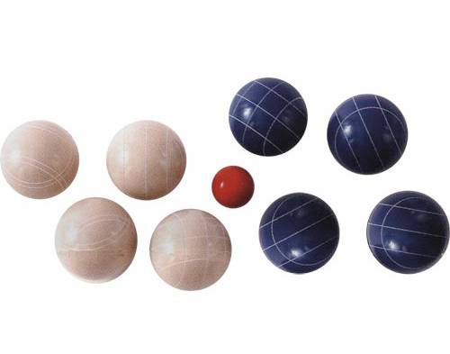 the epco world cup 110mm bocce ball set is great fun for and novices alike includes 4 blue bocce balls 4 white bocce balls 1 red pallino - Bocce Set