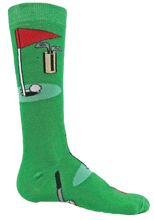 Wright Avenue Golf Novelty Crew Socks