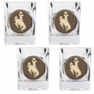 Wyoming Cowboys 4 Piece Square Shot Glasses