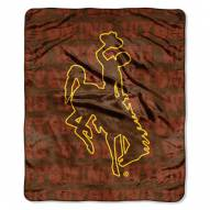 Wyoming Cowboys Micro Grunge Blanket