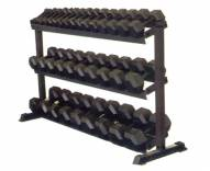 York 3-Tier Pro-Hex Dumbbell Rack